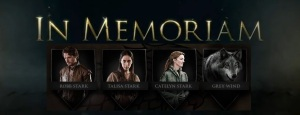 Game of Thrones Season 3 In Memoriam