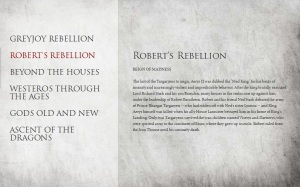 GOT ROBERT'S REBELLION