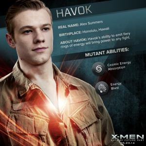X-Men Days of Future Past Havok Powers