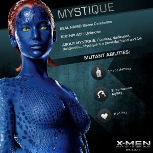 X-Men Days of Future Past Mystique Powers