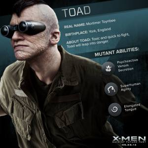 X-Men Days of Future Past Toad Powers