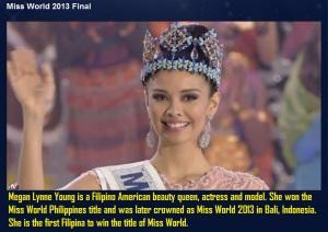 Megan Lynne Young Miss World 2013