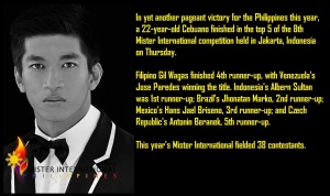 Mr International 2013