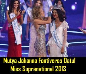 Mutya Johanna Fontiveros Datul Miss Supranational 2013