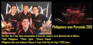 Philippines won Pyronale 2013