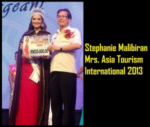 Stephanie Malibiran Mrs Asia Tourism International 2013